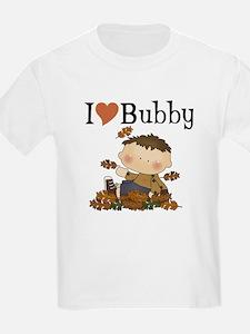 Autumn Boy I Love Bubby Kids T-Shirt
