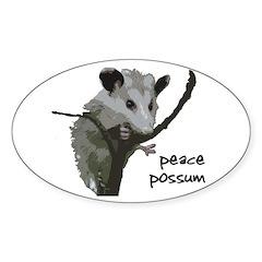Peace Possum Bumper Decal
