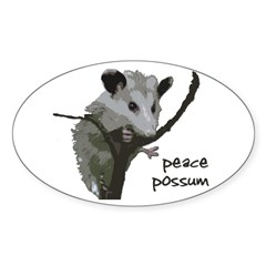 Peace Possum Bumper Decal