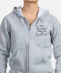 Super Teacher Zip Hoodie