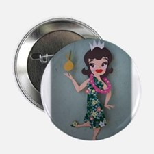 "Pineapple Princess Annette 2.25"" Button"