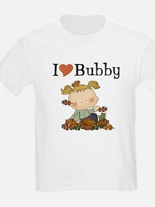 Autumn Girl I Love Bubby Kids T-Shirt