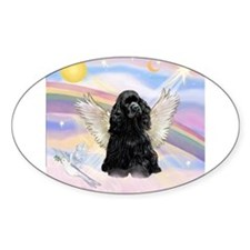 Cocker Angel in Clouds Decal