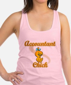 Accountant Chick #2 Racerback Tank Top