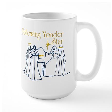 Following Yonder Star Large Mug