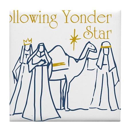 Following Yonder Star Tile Coaster