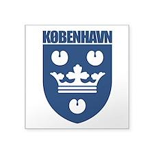 "Kobenhavn COA (blue).png Square Sticker 3"" x 3"""