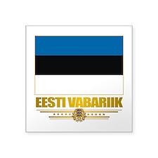 "Estonia (Flag 10)2.png Square Sticker 3"" x 3"""