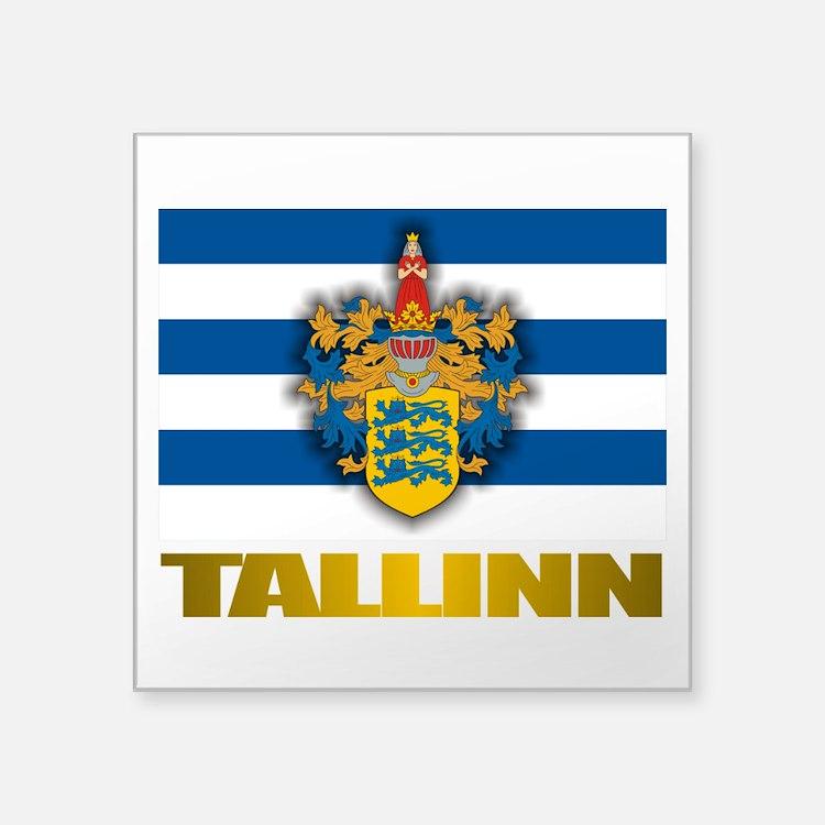 """Tallinn.png Square Sticker 3"""" x 3"""""""