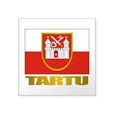 "Tartu.png Square Sticker 3"" x 3"""