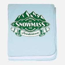 Snowmass Mountain Emblem baby blanket