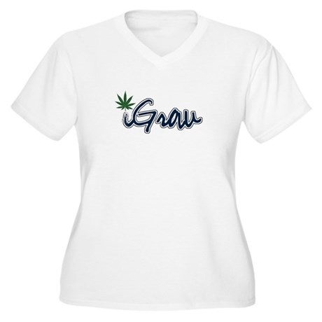 Sticker Women's Plus Size V-Neck T-Shirt
