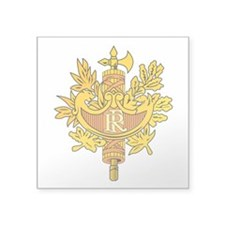 "French National Emblem.png Square Sticker 3"" x 3"""