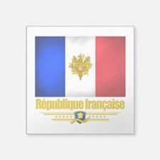 French Flag-Emblem (Flag 10).png Square Sticker 3""