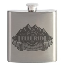 Telluride Mountain Emblem Flask