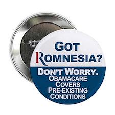 "Got Romnesia? 2.25"" Button (10 pack)"