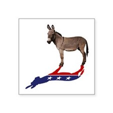 "Dem Donkey Shadow Square Sticker 3"" x 3"""