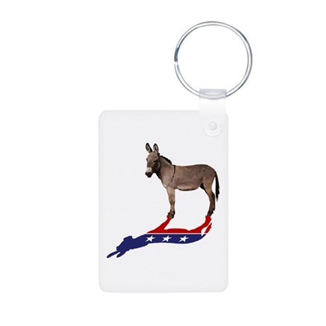 Dem Donkey Shadow Aluminum Photo Keychain