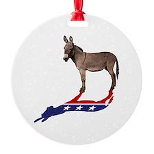 Dem Donkey Shadow Ornament