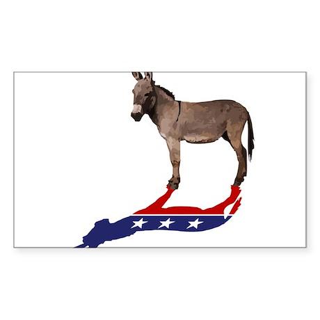 Dem Donkey Shadow Sticker (Rectangle)