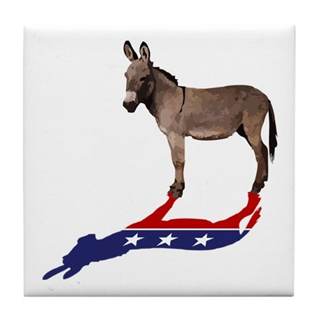 Dem Donkey Shadow Tile Coaster