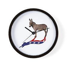 Dem Donkey Shadow Wall Clock