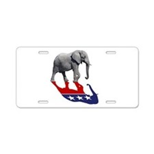 Republican Elephant Shadow Aluminum License Plate
