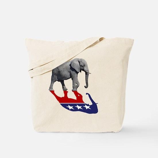 Republican Elephant Shadow Tote Bag