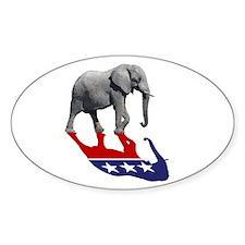 Republican Elephant Shadow Decal