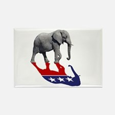 Republican Elephant Shadow Rectangle Magnet