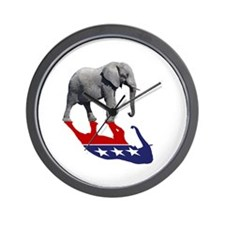 Republican Elephant Shadow Wall Clock