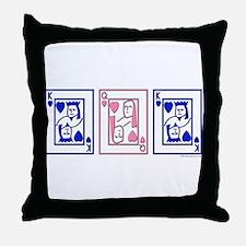 mfm (pink & blue) Throw Pillow