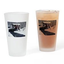 Henry Covered Bridge Drinking Glass