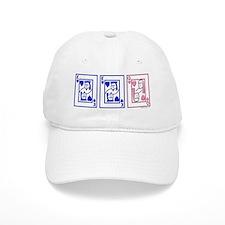 mmf (blue and pink) Baseball Cap