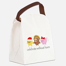 xmasturkey.gif Canvas Lunch Bag