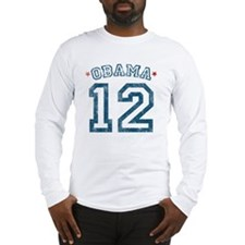 Obama Distressed 2012 Long Sleeve T-Shirt