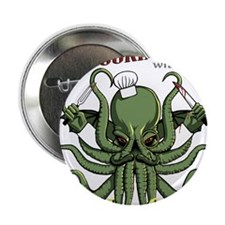 "Cooking with Cthulhu 2.25"" Button (10 pack)"