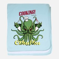Cooking with Cthulhu baby blanket