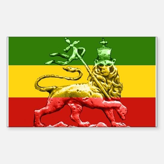 Rasta Reggae Lion of Judah Sticker (Rectangle)