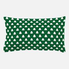 Hunter Green Christmas Pine Tree Pillow Case