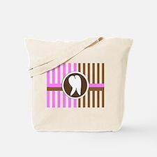 hygienist pink brown horizontal.PNG Tote Bag