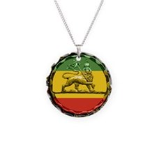 Reggae Music Lion of Judah Necklace Circle Charm
