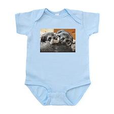 Snoozing Schnauzer Puppies Infant Bodysuit