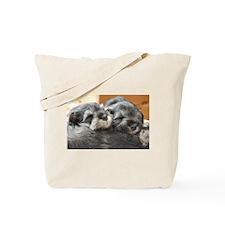 Snoozing Schnauzer Puppies Tote Bag