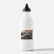 Snoozing Schnauzer Puppies Water Bottle