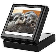 Snoozing Schnauzer Puppies Keepsake Box
