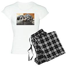 Snoozing Schnauzer Puppies Pajamas