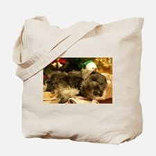 Christmas Snoozing Tote Bag