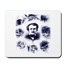 Poe and His Works Mousepad