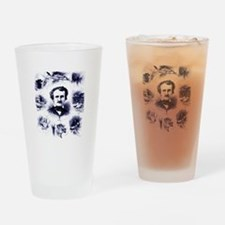 Poe and His Works Drinking Glass